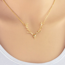 Fashion jewelry  elk deer antlers pendant necklace  gift for women girl   N1935