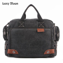 High Quality Multifunction Canvas Bags Men Business bag Casual Handbag men messenger bag brand Quality vintage briefcase w680(China)