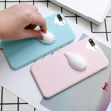 KISSCASE Cute 3D Squishy Doll Cass For iPhone 7 6 6S Plus 5 5S SE Cat Seal Phone Cover For iPhone 5S 5 SE Silicon Accessories(China)