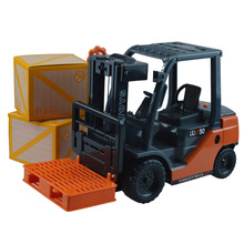 Diecast engineering car model children truck toy internal combustion big forklift with music inertia engineering in box