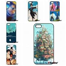 For iPhone 4 4S 5 5C SE 6 6S 7 Plus Galaxy J5 J3 A5 A3 2016 S5 S7 S6 Edge anime howls moving castle fan art hard Phone Case