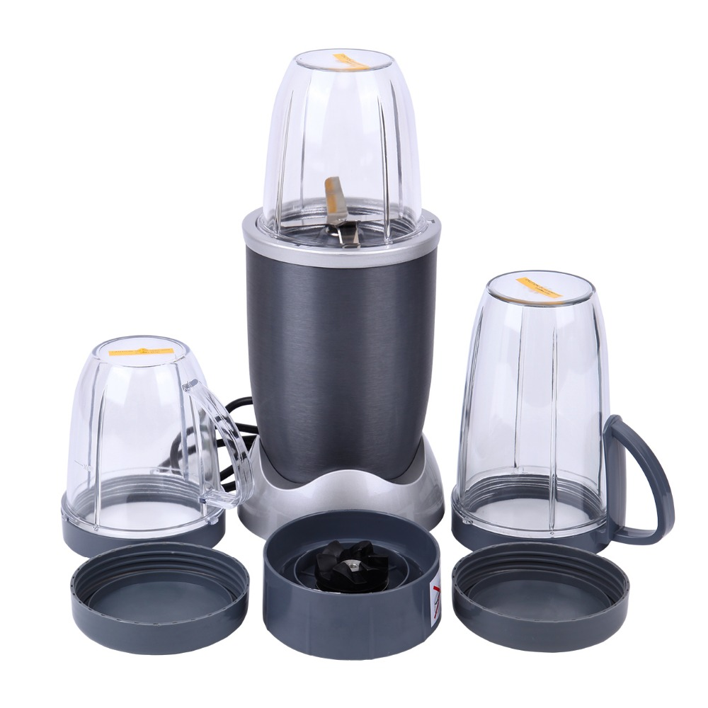 Ship from USA) Portable Blender Food Processor Mixer Juicer Smoothie Ice Crush Maker 600W<br>