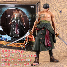 "Free Shipping Cool 7"" ZERO ONE PIECE Mater Stars Piece the Roronoa Zoro Zero Ver. PVC Action Figure Collection Model Toy Gift(China)"
