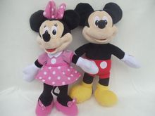 25cm Original New Minnie Mouse Plush Toy Pink Stuffed Animals super Cute Baby Girls Toys for Children Kids Gifts(China)