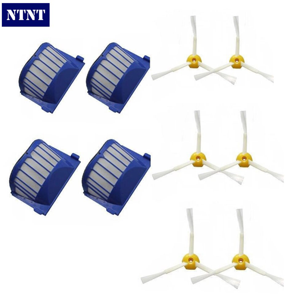 NTNT Free Post New 4 AeroVac Filter + 6 Brush 3 armed For iRobot Roomba 600 Series 620 630 650 660<br><br>Aliexpress