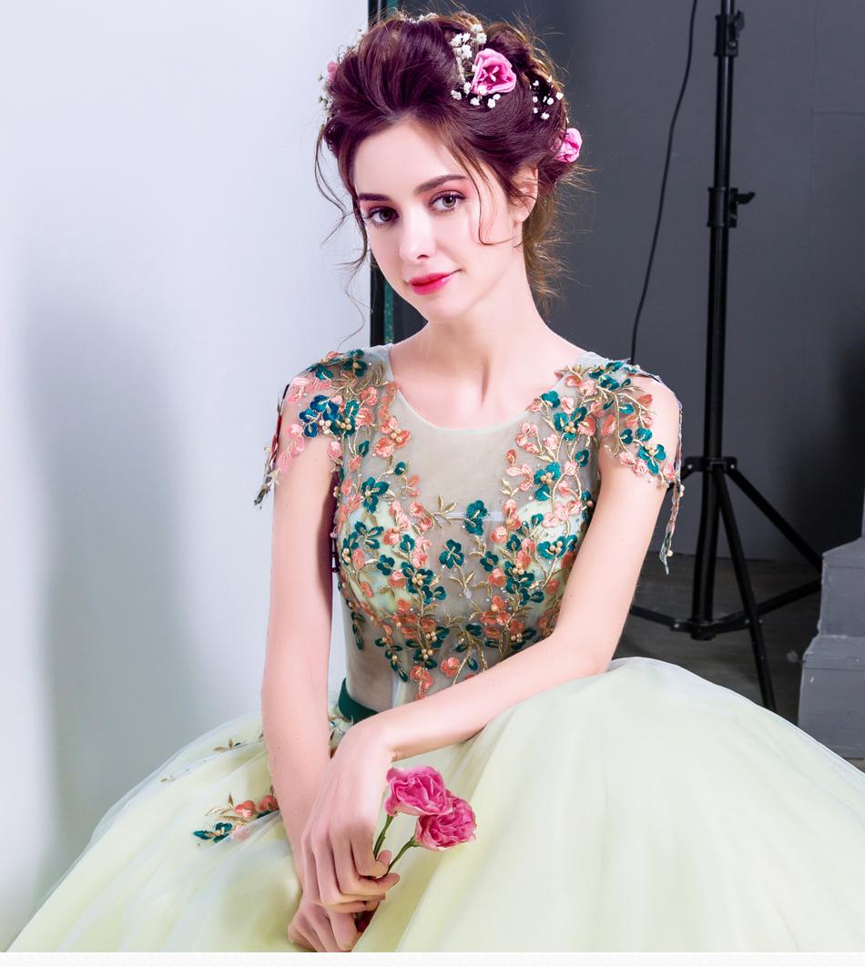 Angel Wedding Dress Marriage Bride Bridal Gown Vestido De Noiva 2017 Green, embroidery, the wizard of Oz 2217 1