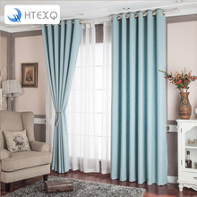 New arrive dot design solid window treatments decoration curtains for living room drapes insulated blackout curtains