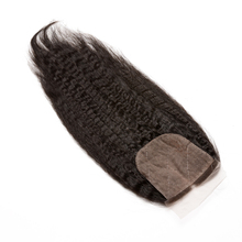Kinky Straight Silk Base Brazilian Hair Lace Closure 4x4 Free Part With Baby Hair Natural Color Honey Queen Remy(China)