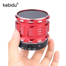 kebidu Mini Bluetooth Wireless Speakers FM MP3 Metal Hands Free With Mic FM Radio 3.5mm Audio Cable Support SD Card for Phone PC(China)