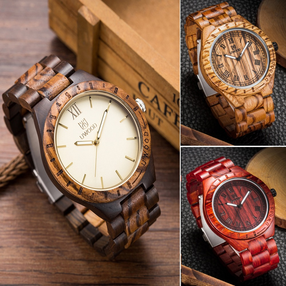 Fashion Casual Style Mens Dress Wooden Wristwatch For Men Watch Wood Top Brand Luxury Antique Wooden Sandal Men`s Quartz Watches<br>