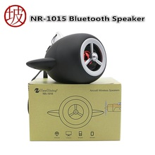 NR-1015 Bluetooth Speaker With aircraft propeller design Portable Loudspeaker and spray rubber oil machine Speaker For Computer(China)
