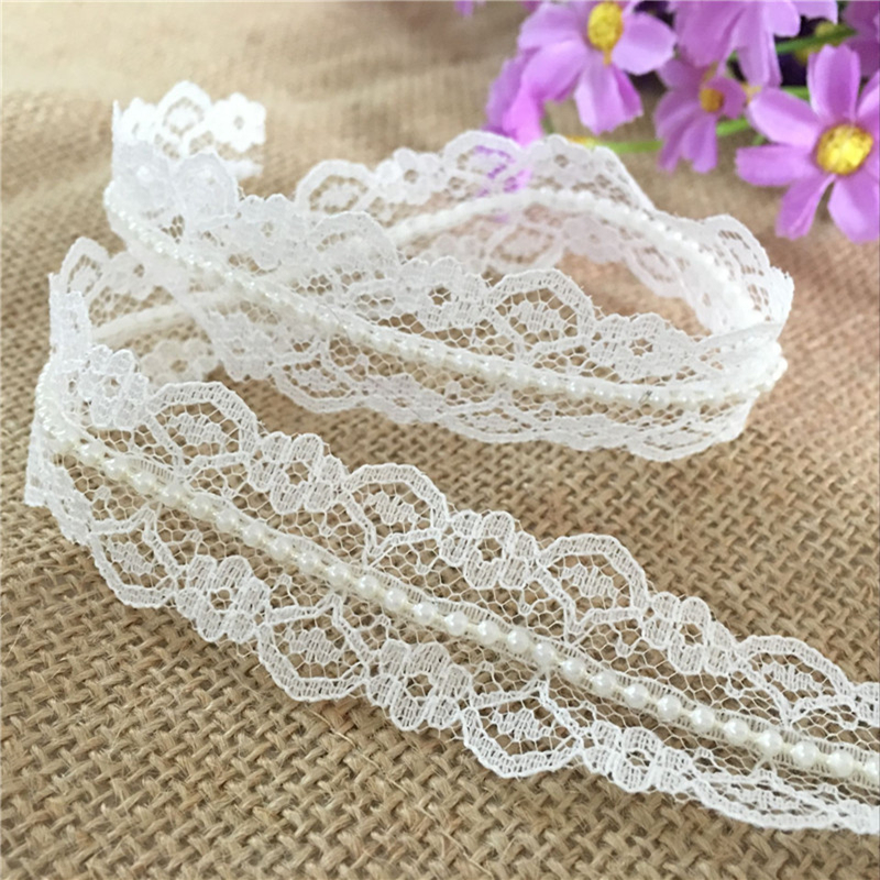 5m Vintage Embroidered Lace Trim Ribbon Wedding Applique Sewing 100/% Cotton