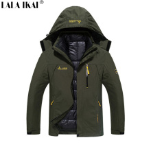 Men 3 In 1 Waterproof Outdoor Jacket Windproof Thermal Hardshell Windstopper Breathable Winter Coat Hiking Fishing HMA0415-5