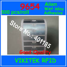 Alien authoried 500pcs per roll 9654 UHF RFID wet inlay glue adhesive 860-960MHZ Higgs3 EPC C1G2 ISO18000-6C used RFID tag label