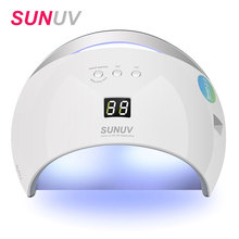 SUNUV SUN6 Smart Lamp Nail LED UV Lamp Dryer Metal Bottom LCD Timer Multicolors for Curing UV Gel Polish Nail Art Tools(China)