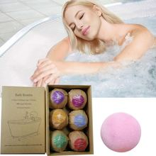 YANQINA Bath Bombs Rose Red Smell Pack of 6 Oil Sea Salt Handmade Bath Bombs Set 2.1oz(China)