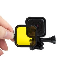 Go pro Hero 5 Session 4 Session Lens Filter yellow red purple UV Diving Filter for Gopro Hero 5s 4s action camera Accessories
