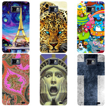 For Samsung Galaxy S2 SII GT I9100 i9105 Case Luxury Cute Hard Plastic Cartoon Printing Cover Original Phone Back Shell Capa