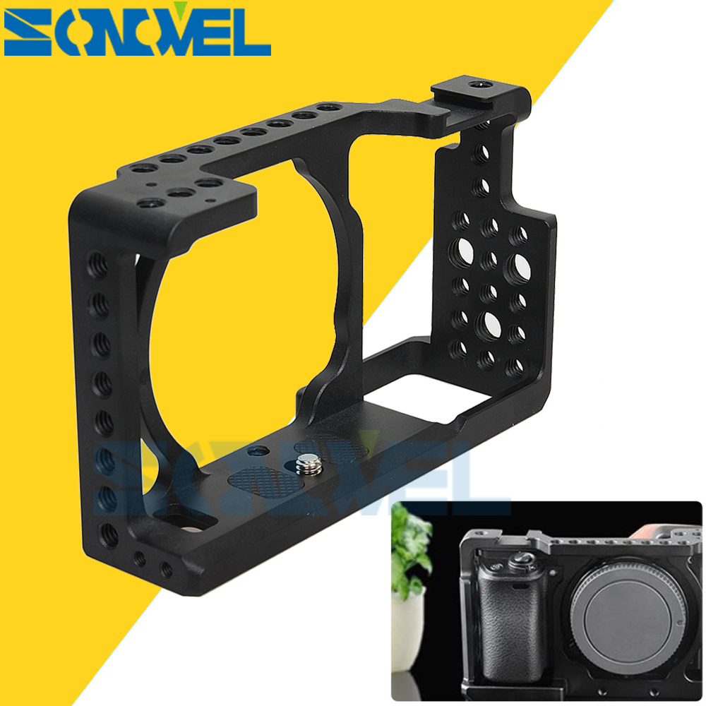 Andoer Video Camera Cage Protective Camera Stabilizer Sony A6000 A6300 NEX7 ILDC Mount Microphone Monitor Tripod Light