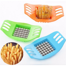 1Pcs Creative DIY French Fries Cutter Strip Cutting Maker Manually Potato Slicer Potato Chips Kitchen Gadget Random Color