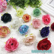 Hot 50pcs/lot 3.5cm small Hibiscus flowers wreath hairpin simulation silk flower brooch  DIY wedding accessories Home Decoration