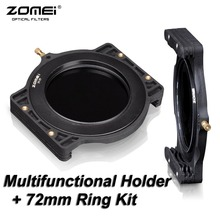 "ZOMEI Filter Holder + 72-72mm Adaptor Ring for Cokin Z-Pro Lee Tiffen Hitech Kood Singh-Ray 4x5"" 4x5.65"" 4x6"" 100x100 100x150 mm"