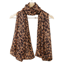Fashion Lady Leopard Print Scarf Women Large Long Voile Scarves Shawls Winter Warm Soft Wrap Scarf Foulard Femme 165*70cm