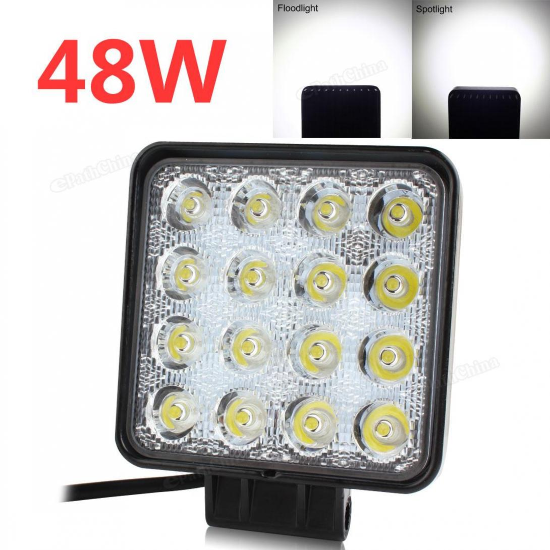 4 Inch 48W Waterproof Square Car LED Work Light 12V/24V 3200LM for Motorcycle / Tractor / Boat / 4WD Offroad / SUV / ATV<br><br>Aliexpress