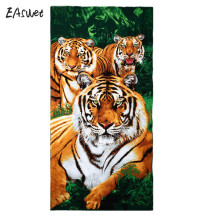 2017 New Big Men Beach Towels Tiger Horse Dolphin Microfiber Fabric Bath Towel Hotel Large Beach Towels For Adults Wholesale