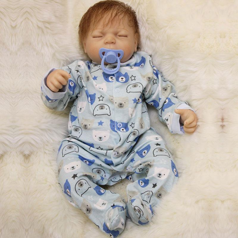 Reborn Doll 22inch Soft Silicone Reborn Baby Dolls 55cm BeBe Reborn Newborn Lifelike Baby Toys Doll Brinquedos For Birthday Gift<br><br>Aliexpress