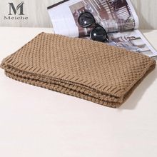 MEICHE Wool Plaid Male knitting Scarf Men Luxury Brand Winter Woolen Autumn Winter Warm solid Scarves for Men Unisex(China)