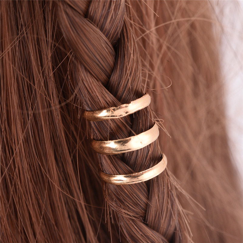 2 PCS 1.5 CM Adjustable Dreadlock Beads Tube Ring for Braids Hair Beads  Braid Cuff Clip Cute