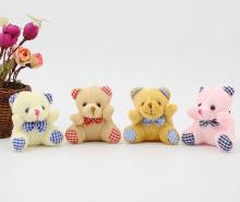 Mix Colors - Kawaii Bear Wedding Plush Toy , Little Small Sitting 6CM bear Plush Stuffed TOY Doll