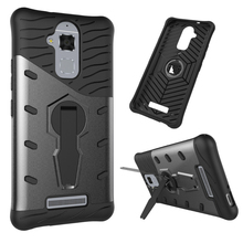 For Asus Zenfone 3 Max ZC520TL Case Silicone Stand Cover TPU & Plastic Hybrid Armor Phone Case For Asus Zenfone 3 Max ZC520TL(China)