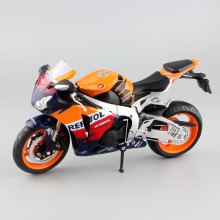 1:12 scale kids Honda fireblade repsol CBR1000RR Motorcycle Die cast supersport metal models MotoGP race motor bike toy orange(China)