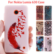 High Quality Glossy IMD Print Soft TPU Back Cell Phone Case Cover For Nokia Lumia 630 N630 635 N635 Protective Skin