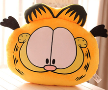 Super cute 1pc 36cm cartoon movie funny Garfield cat plush hold doll hand warm pillow stuffed toy soft children baby girl gift