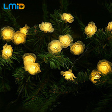 LMID Solar Lamps Romantic Fairy Outdoor Solar Light Colorful Christmas Holiday Wedding Decoration Waterproof String Lighting(China)