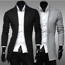 In the fall of 2014 new simple cardigan slim men V neck knit sweater(China)