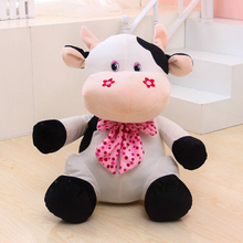 Stuffed Cute Cartoon Cows Plush Toy Animals Farm Pink Plush Pillow Toys Oyuncak Bebek Birthday Gift Peluche Toys For Kids 50G414