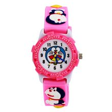 1pcs Fashion Sports kids Watch Cute Doraemon Cartoon 3D Child Wrist Watch Children waterproof Watch Gift hot selling