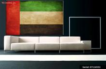 Emirates UAE Flag Still life Impressionist oil Painting Drawing art Spray Unframed Canvas hand action wall action07116553