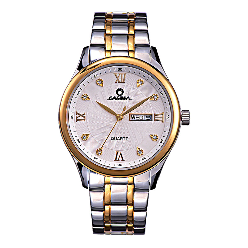 Luxury brand watches men 2016 fashion leisure business dress gold crystal mens quartz wrist watch waterproof 50m CASIMA #5117<br><br>Aliexpress