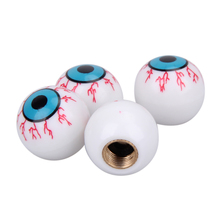 4pcs/lot Tire Air Valve Caps Zombie eyeball Tyres Wheel Dust Air Stems Ventil Cover for Auto Car Truck Bike rims Accessories