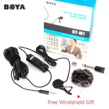 BOYA BY-M1 Lavalier Stereo Audio Recorder Interview Speach Clip Microphone Mic For Nikon Canon Camcorder DSLR iPhone Smartphone
