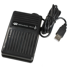 Portable New USB Foot Control Keyboard Action Switch Pedal HID PC QJY99(China)