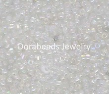 Doreen Box hot-  100 Gram Clear AB Color Glass Seed Beads 10/0 Jewelry Making (B09085)