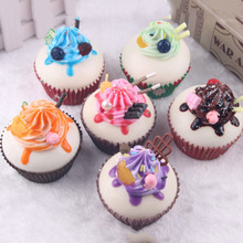 1PCS Kids Classic Toy Pretend Food Simulation Cream Cupcake Sift Sequishy Bread Keychain Pretend Play Kids Girls Pretend Toys