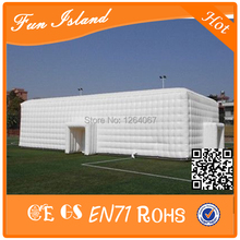 Customize Giant inflatable Square white tent for wedding/exhibition/party/event with LED lights for sale(China)