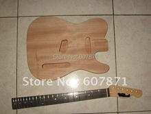 high quality Unfinished electric guitar body with neck
